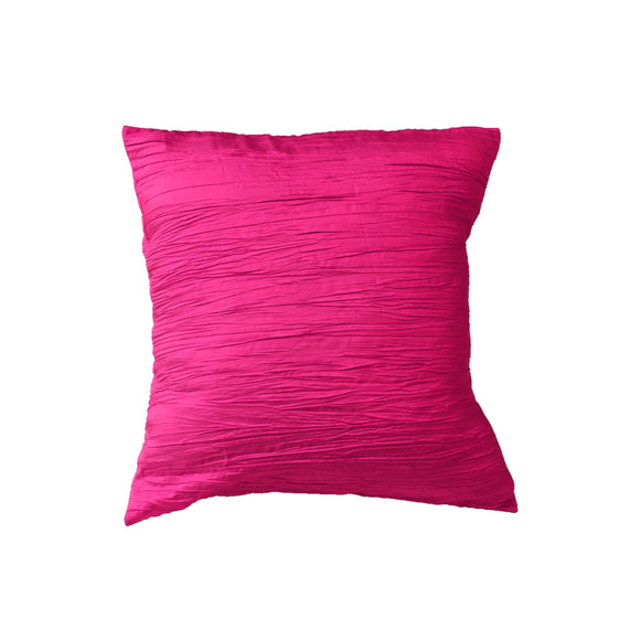 Crushed Taffeta Decorative Throw Pillow/Sham Cushion Cover Fuchsia