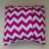 Cotton Chevron Decorative Throw Pillow/Sham Cushion Cover Fuchsia
