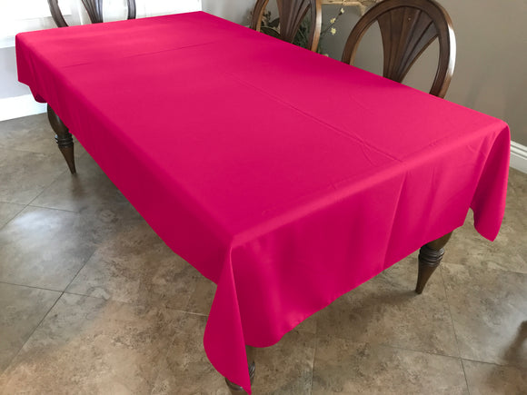 Solid Poplin Tablecloth Fuchsia