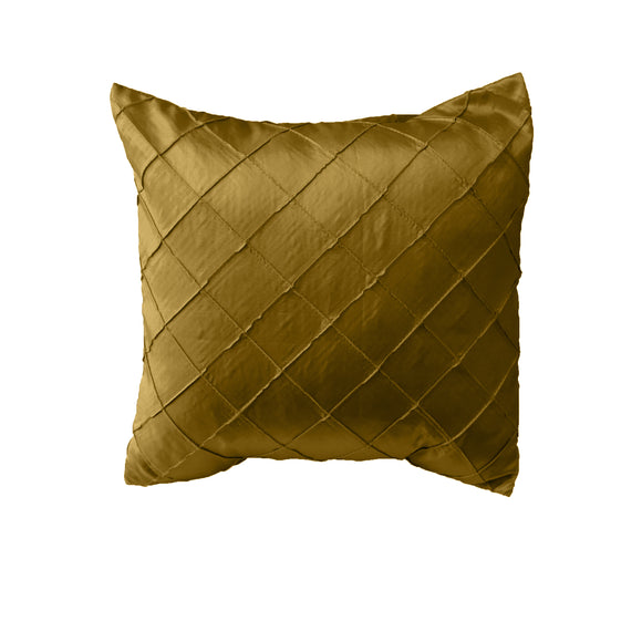 Pintuck Taffeta Decorative Throw Pillow/Sham Cushion Cover Gold