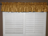 "Pintuck Window Valance 52"" Wide Gold"