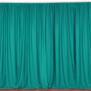 "Solid Poplin Window Curtain or Photography Backdrop 58"" Wide Green Teal"