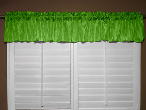 "Crinkle Taffeta Window Valance 52"" Wide Green"