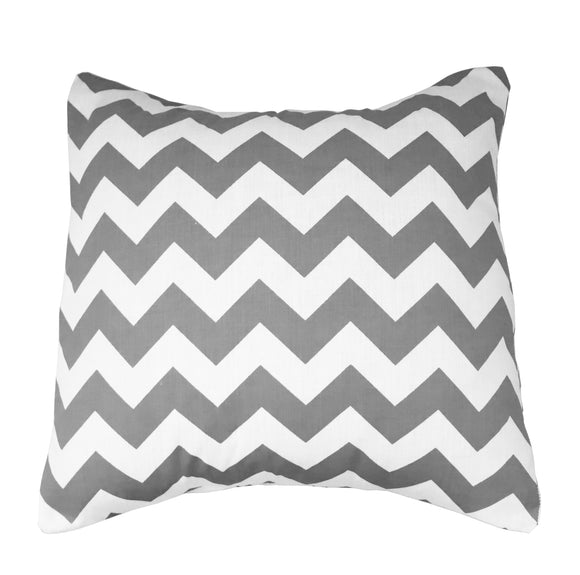 Cotton Chevron Decorative Throw Pillow/Sham Cushion Cover Grey
