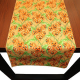 100% Cotton Table Runner Halloween Decoration Spooky Leaves on Vines