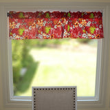 "Cotton Hawaiian Tropical Floral Window Valance 58"" Wide Red"