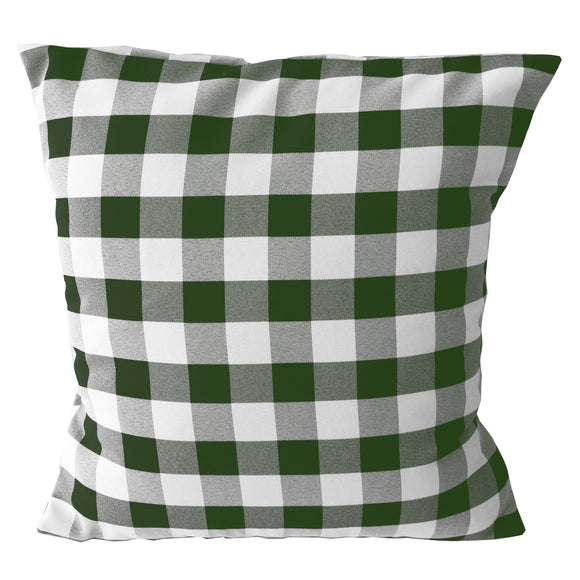 Gingham Checkered Decorative Throw Pillow/Sham Cushion Cover Hunter Green & White