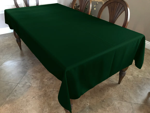 Solid Poplin Tablecloth Hunter Green