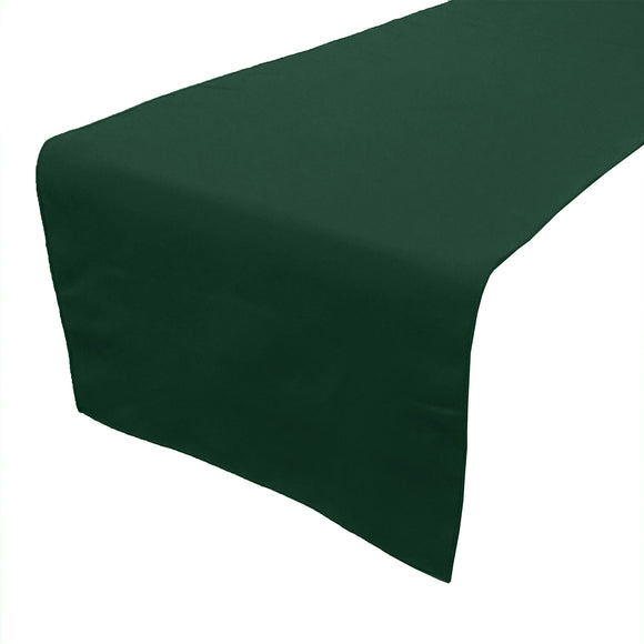 Poplin Table Runner Solid Hunter Green
