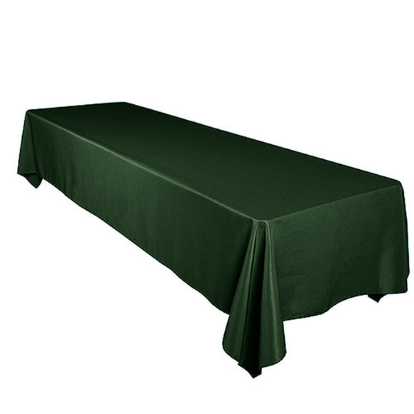 Shiny Satin Solid Tablecloth Hunter Green