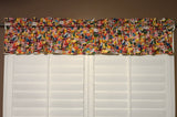"100% Cotton Window Valance 42"" Wide Emoji Faces Allover"
