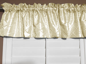 "Pintuck Window Valance 52"" Wide Ivory"