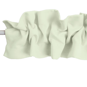 Solid Poplin Curtain Sleeve Topper Ivory