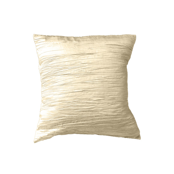 Crushed Taffeta Decorative Throw Pillow/Sham Cushion Cover Ivory