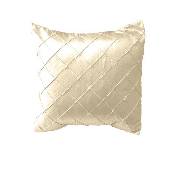 Pintuck Taffeta Decorative Throw Pillow/Sham Cushion Cover Ivory