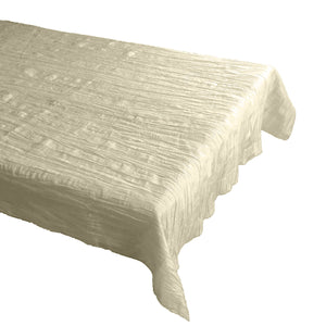 Crinkle Style Crushed Taffeta Tablecloth Ivory