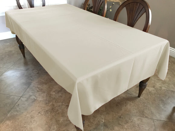 Solid Poplin Tablecloth Ivory