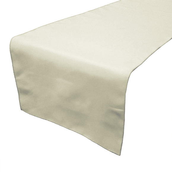 Poplin Table Runner Solid Ivory