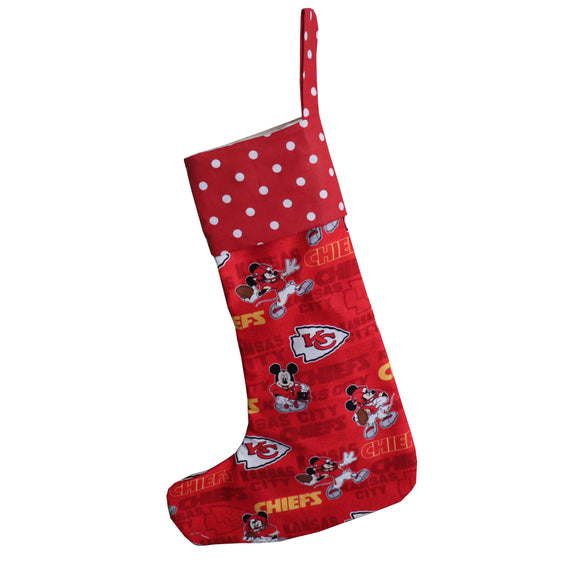 Christmas Stocking Mickey Mouse KC Chiefs Football Team