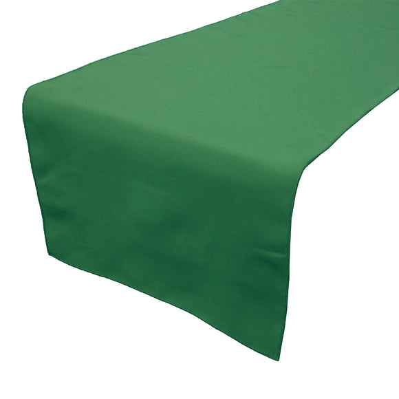 Poplin Table Runner Solid Valley Green