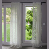 Floral Lace Window Curtain 58 Inch Wide Ivory