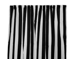 Cotton Stripe Window Curtain 58 Inch Wide 2 Inch Stripe Black and White