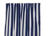 Cotton Stripe Window Curtain 58 Inch Wide 2 Inch Stripe Navy and White