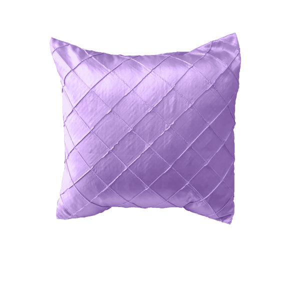 Pintuck Taffeta Decorative Throw Pillow/Sham Cushion Cover Lavender