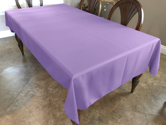 Solid Poplin Tablecloth Lavender