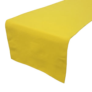 Poplin Table Runner Solid Lemon Yellow
