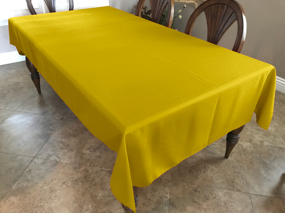 Solid Poplin Tablecloth Lemon Yellow