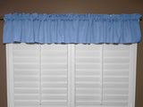 "Solid Poplin Window Valance 58"" Wide Light Blue"