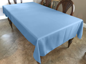 Solid Poplin Tablecloth Light Blue