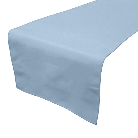 Poplin Table Runner Solid Light Blue