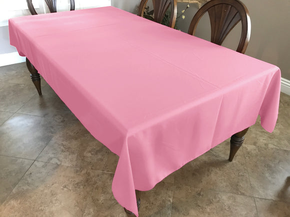 Solid Poplin Tablecloth Pink