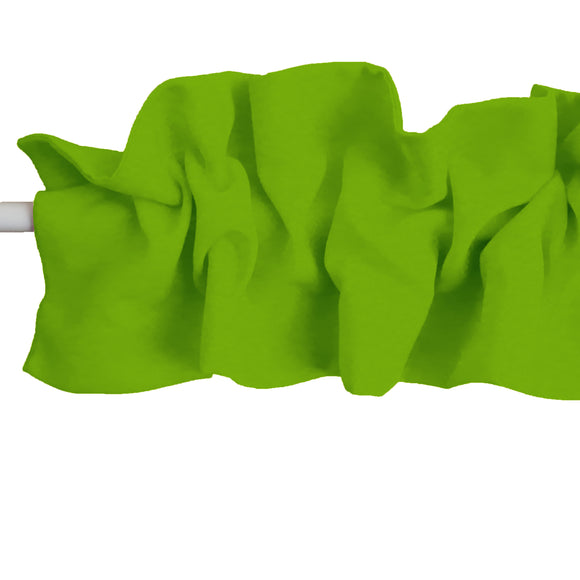 Solid Poplin Curtain Sleeve Topper Lime Green