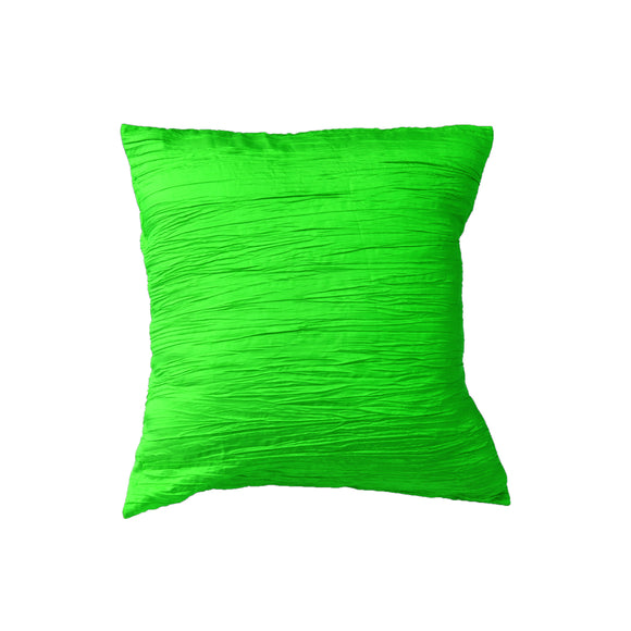 Crushed Taffeta Decorative Throw Pillow/Sham Cushion Cover Lime