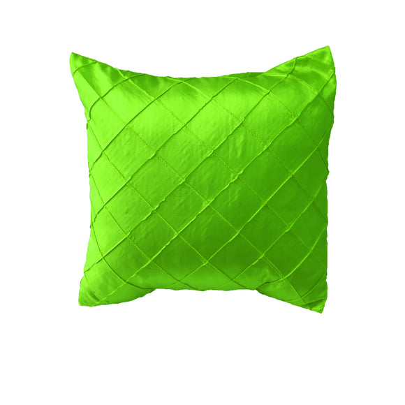 Pintuck Taffeta Decorative Throw Pillow/Sham Cushion Cover Lime