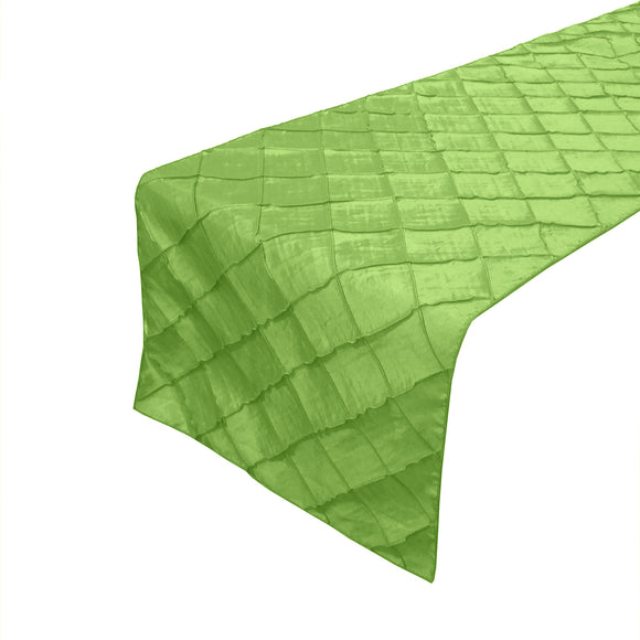 Pintuck Taffeta Table Runner Lime Green