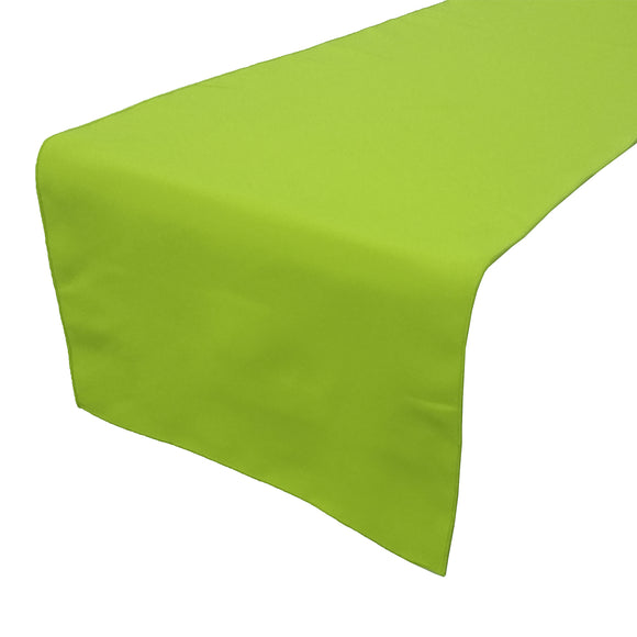 Poplin Table Runner Solid Lime Green