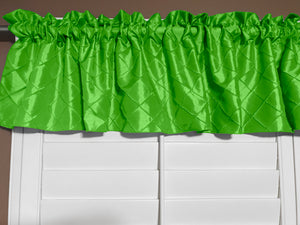 "Pintuck Window Valance 52"" Wide Lime Green"