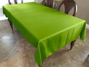 Solid Poplin Tablecloth Lime Green