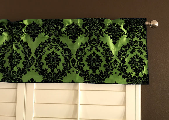 Flocked Damask Window Valance 58
