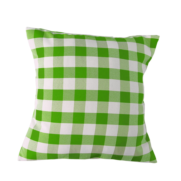 Gingham Checkered Decorative Throw Pillow/Sham Cushion Cover Lime Green & White