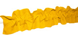 Solid Poplin Curtain Sleeve Topper Marigold Yellow
