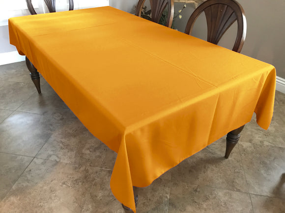 Solid Poplin Tablecloth Marigold Yellow