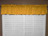 "Solid Poplin Window Valance 58"" Wide Marigold"