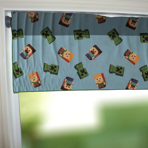 100% Cotton Minecraft Themed Window Valance 42