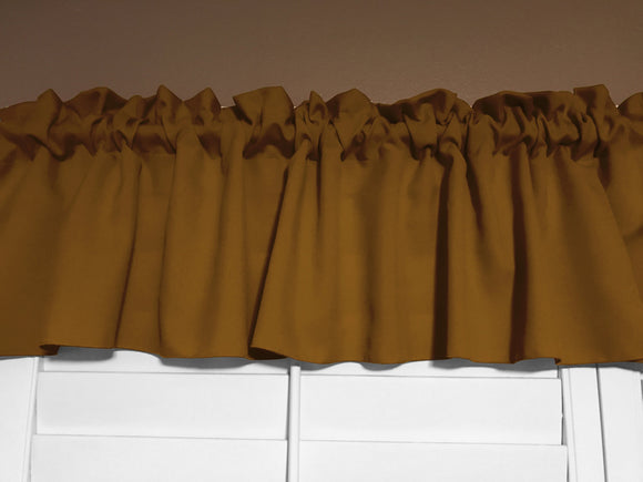 Solid Poplin Window Valance 58