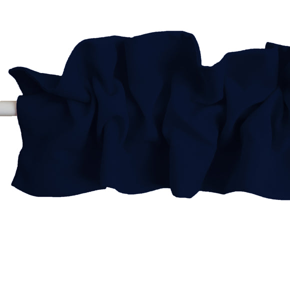 Solid Poplin Curtain Sleeve Topper Navy